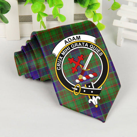 Image of Adam Tartan Tie with Clan Crest TH8