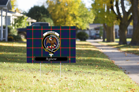 ScottishShop Agnew Yard Sign - Tartan Crest Yard Sign