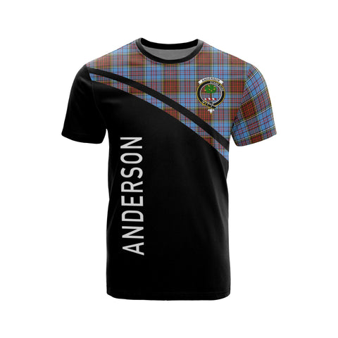 Tartan Shirt - Anderson Clan Tartan Plaid T-Shirt Curve Version Front