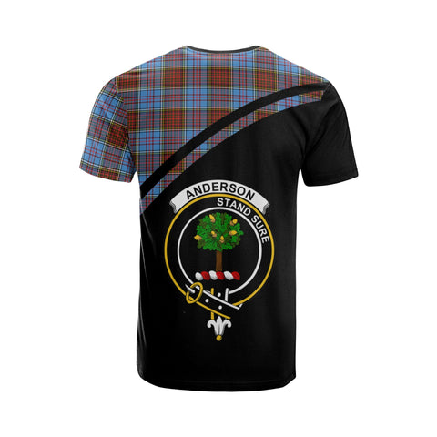 Tartan Shirt - Anderson Clan Tartan Plaid T-Shirt Curve Version Back