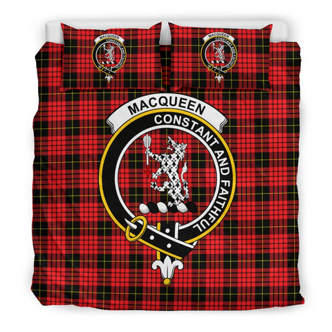 Image of Tartan MacQueen Bedding Set - Clan Crest