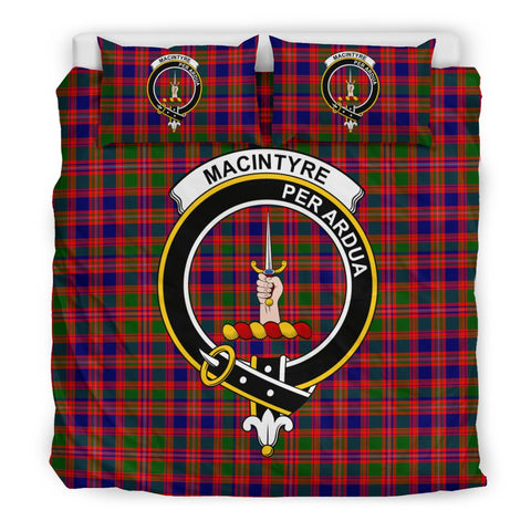 Image of Tartan MacIntyre Bedding Set - Clan Crest