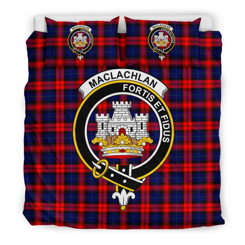 Image of Tartan MacLachlan Bedding Set - Clan Crest