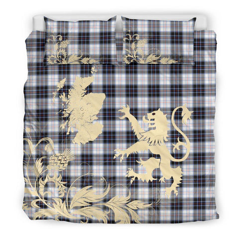 Tartan Macrae Dress Modern Bedding Set Scotland Lion - Thistle Map