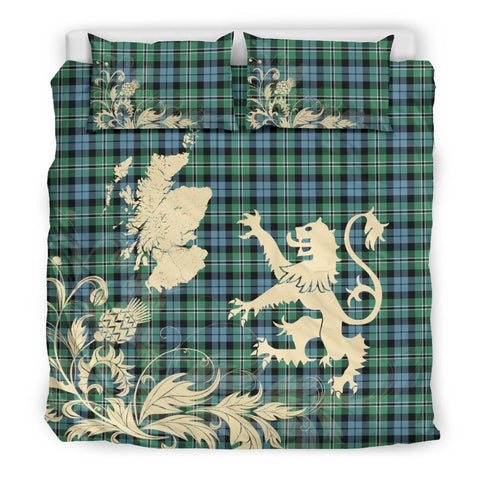 ScottishShopTartan Melville Bedding Set Scotland Lion - Thistle Map