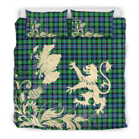 ScottishShopTartan Murray Of Atholl Ancient Bedding Set Scotland Lion - Thistle Map