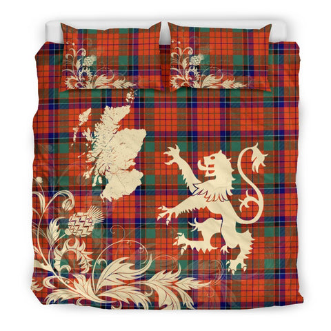 ScottishShopTartan Nicolson Ancient Bedding Set Scotland Lion - Thistle Map