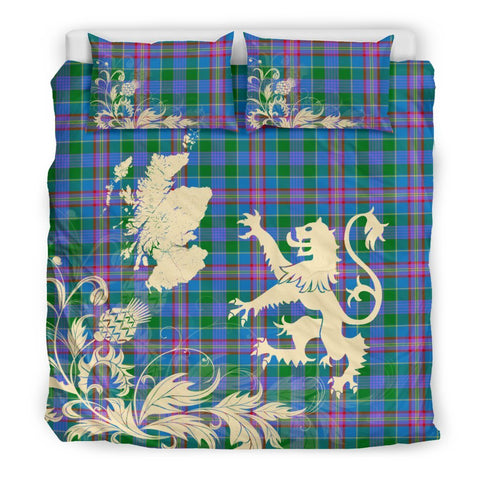 Tartan Ralston Bedding Set Scotland Lion - Thistle Map