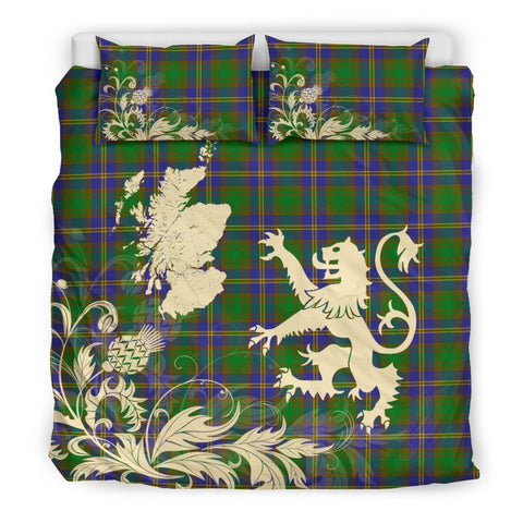 ScottishShopTartan Strange Of Balkaskie Bedding Set Scotland Lion - Thistle Map