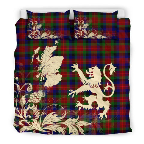 ScottishShopTartan Tennant Bedding Set Scotland Lion - Thistle Map