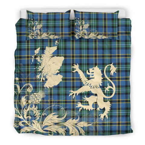 ScottishShopTartan Weir Ancient Bedding Set Scotland Lion - Thistle Map