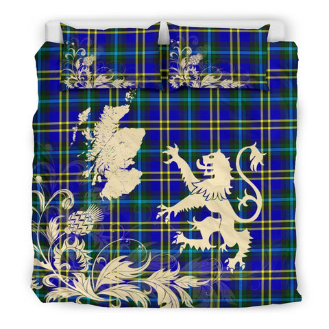 ScottishShopTartan Weir Modern Bedding Set Scotland Lion - Thistle Map