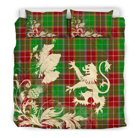 ScottishShopTartan Baxter Modern Bedding Set Scotland Lion - Thistle Map