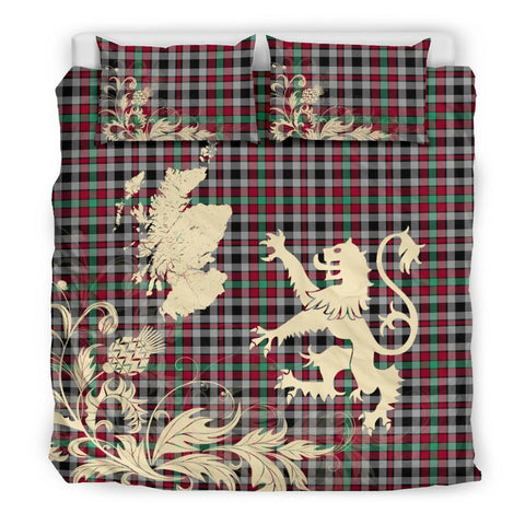 Tartan Borthwick Ancient Bedding Set Scotland Lion - Thistle Map