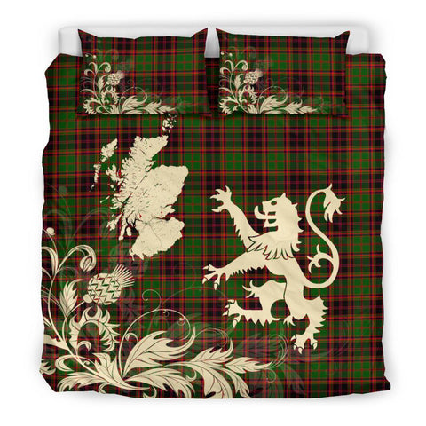 Image of ScottishShopTartan Buchan Modern Bedding Set Scotland Lion - Thistle Map