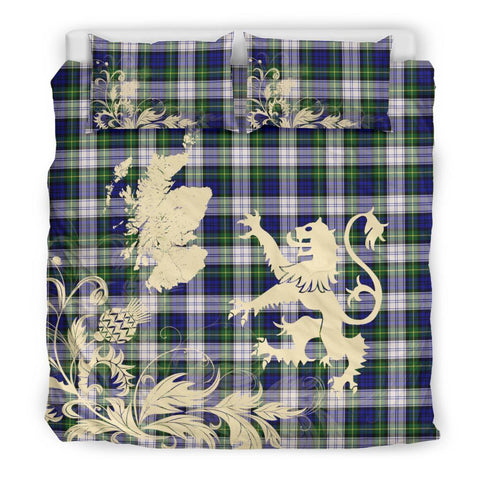 Tartan Gordon Dress Modern Bedding Set Scotland Lion - Thistle Map