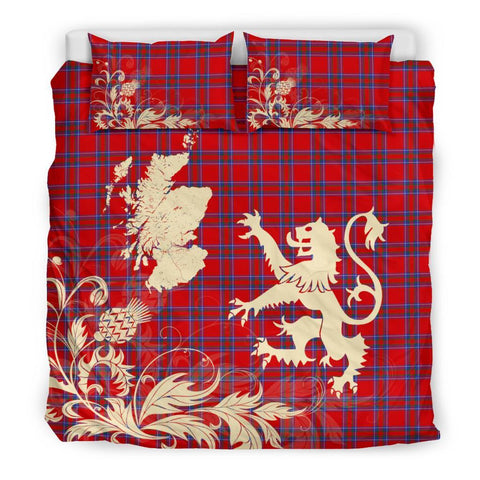 Tartan Inverness District Bedding Set Scotland Lion - Thistle Map