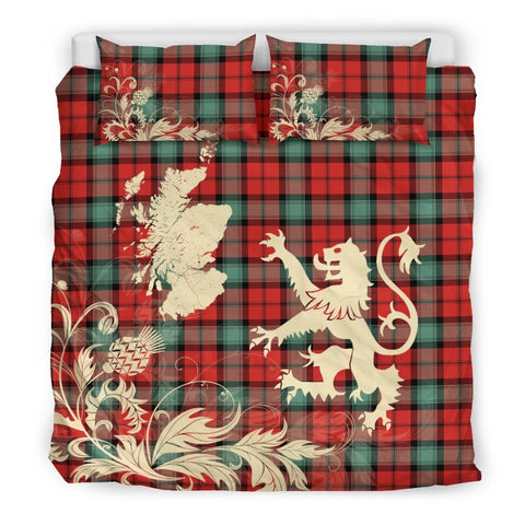 Tartan Kerr Ancient Bedding Set Scotland Lion - Thistle Map