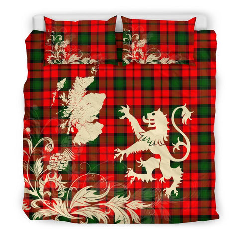 Tartan Kerr Modern Bedding Set Scotland Lion - Thistle Map