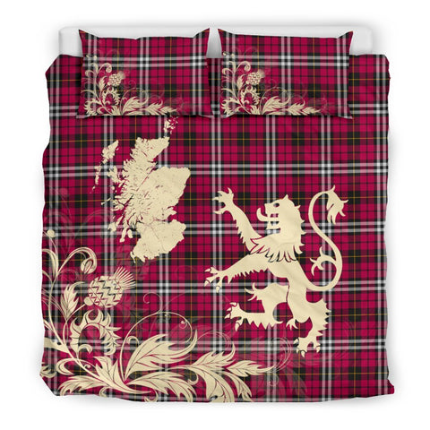 Tartan Little Bedding Set Scotland Lion - Thistle Map