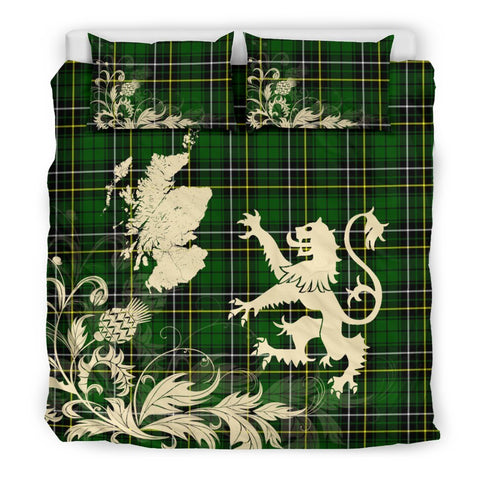 Tartan Macalpine Modern Bedding Set Scotland Lion - Thistle Map