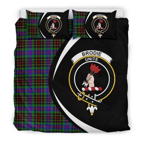 Image of ScottishShopTartan Brodie Hunting Modern Bedding Set - Circle Style