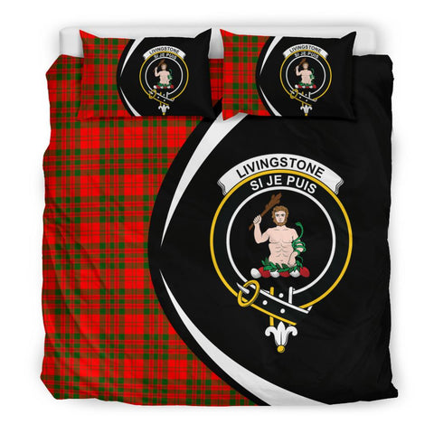 Tartan Livingstone Modern Bedding Set - Circle Style