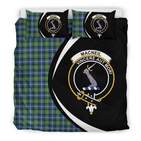 Image of ScottishShopTartan Macneill Of Barra Ancient Bedding Set - Circle Style