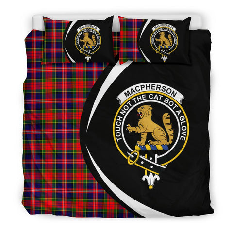Image of ScottishShopTartan Macpherson Modern Bedding Set - Circle Style