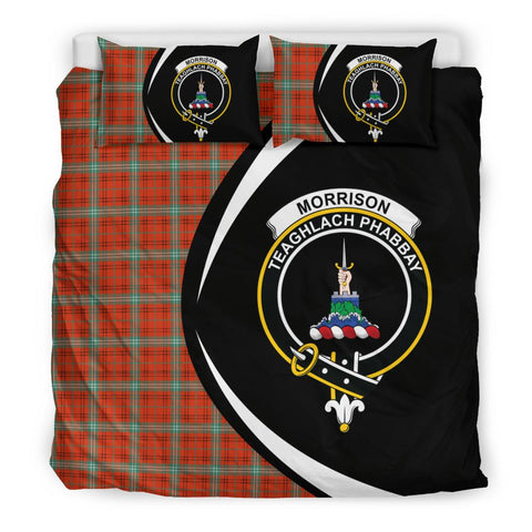 ScottishShopTartan Morrison Red Ancient Bedding Set - Circle Style