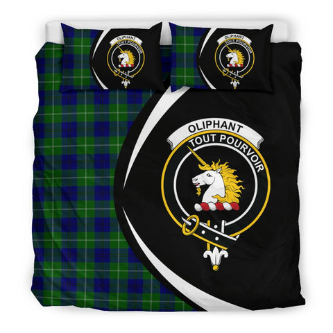 Image of ScottishShopTartan Oliphant Modern Bedding Set - Circle Style