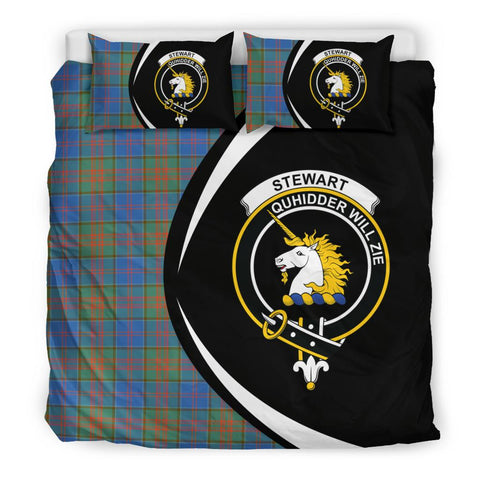 Tartan Stewart Of Appin Hunting Ancient Bedding Set - Circle Style