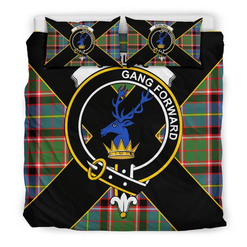 Stirling (of Cadder-Present Chief) Tartan Duvet Cover Set - Luxury Style King Size