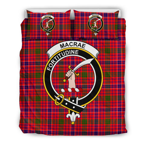 Image of Tartan MacRae Bedding Set - Clan Crest