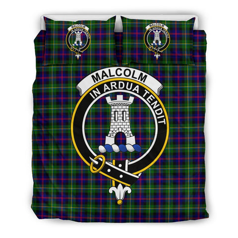 Tartan Malcolm (or MacCallum) Bedding Set - Clan Crest
