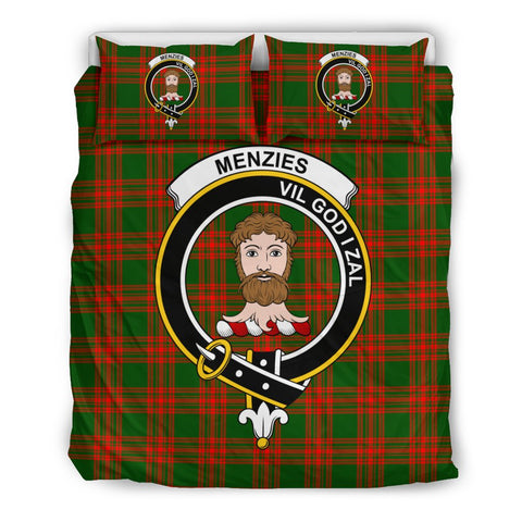 Tartan Menzies Bedding Set - Clan Crest