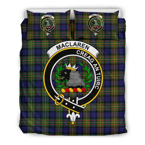 Image of Tartan MacLaren Bedding Set - Clan Crest