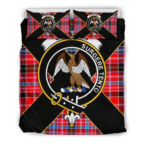 Image of Straiton Tartan Duvet Cover Set - Luxury Style Queen Size