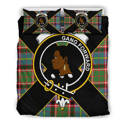 Stirling (of Keir) Tartan Duvet Cover Set - Luxury Style Queen Size