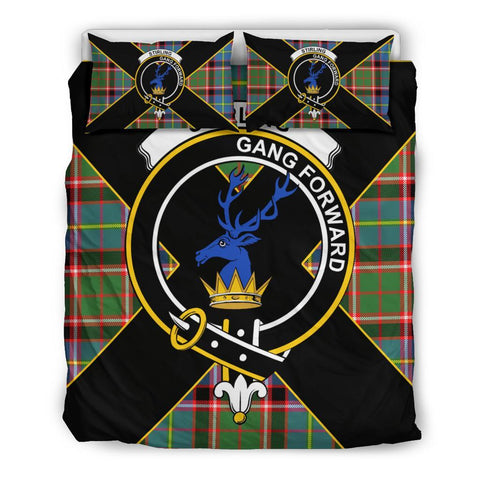 Stirling (of Cadder-Present Chief) Tartan Duvet Cover Set - Luxury Style Queen Size