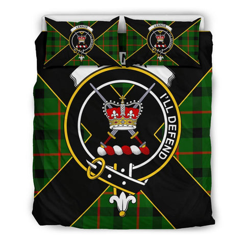 Image of Lennox (Lennox Kincaid) Tartan Duvet Cover Set - Luxury Style Queen Size