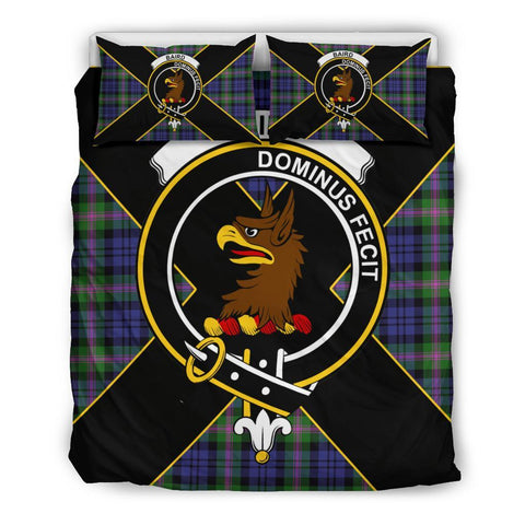Image of Baird Tartan Duvet Cover Set - Luxury Style Queen Size