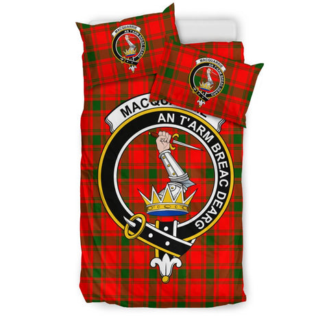 Image of Tartan MacQuarrie Bedding Set - Clan Crest