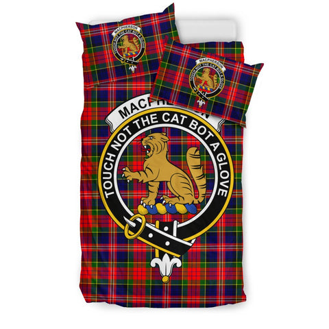 Image of Tartan MacPherson (Chief) Bedding Set - Clan Crest