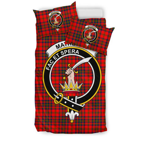 Tartan Matheson Bedding Set - Clan Crest