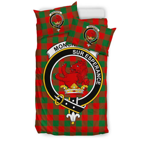 Tartan Moncreiffe (or Moncreiff) Bedding Set - Clan Crest