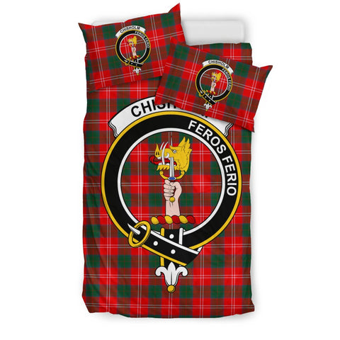Tartan Chisholm Bedding Set - Clan Crest