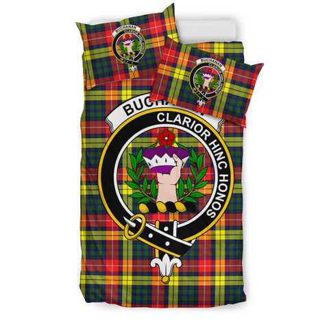 Tartan Buchanan Bedding Set - Clan Crest
