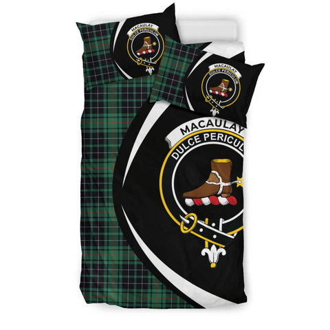 MacAulay Hunting Ancient Tartan Circle Style Bedding Set
