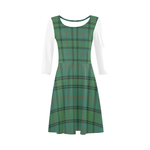 Ross Hunting Ancient Tartan 3/4 Sleeve Sundress | Exclusive Over 500 Clans